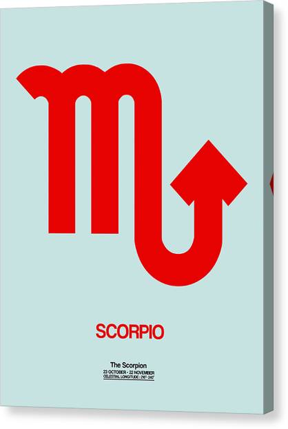 Canvas Print - Scorpio Zodiac Sign Red by Naxart Studio