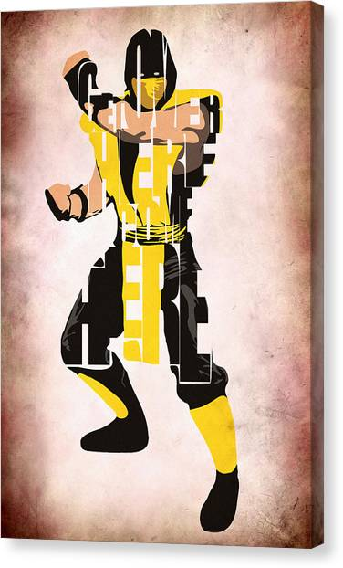 Mortal Kombat Canvas Print - Scorpion - Mortal Kombat by Inspirowl Design