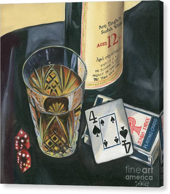 Liquor Canvas Print - Scotch And Cigars 2 by Debbie DeWitt