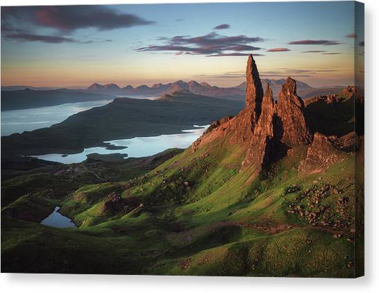 Formations Canvas Print - Scotland - Old Man Of Storr by Jean Claude Castor