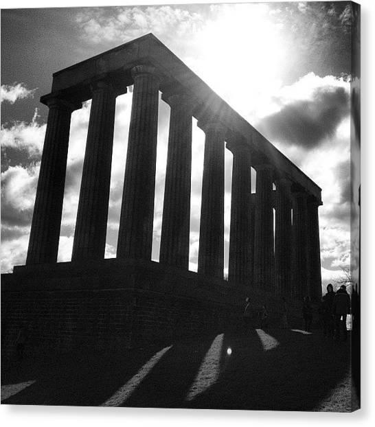 The Parthenon Canvas Print - Scotland's Parthenon. #edinburgh by Liv Wilder