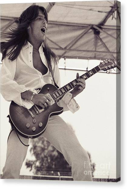 Scott Gorham Of Thin Lizzy Black Rose Tour At Day On The Green 4th Of July 1979  Canvas Print