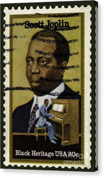 Scott Joplin Stamp Canvas Print
