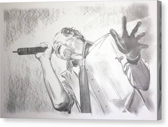 Stone Temple Pilots Canvas Print - Scott Weiland by Las Vegas NV Artist Phil Robinson