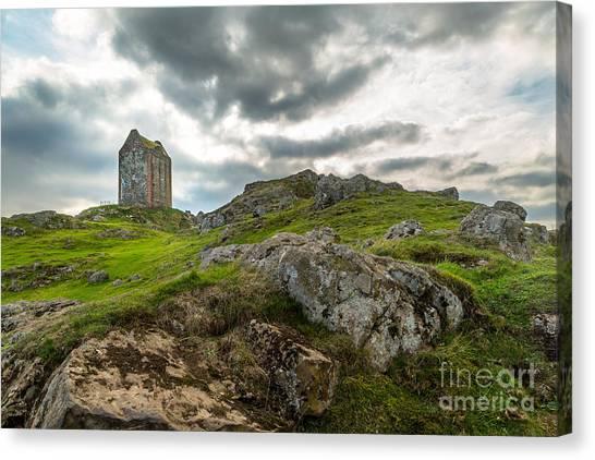 Scottish Borders - Smailholm Tower Canvas Print by Matt  Trimble