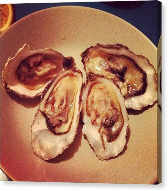 Oysters Canvas Print - Scottish Rock #scottishrock #oyster by TC Li