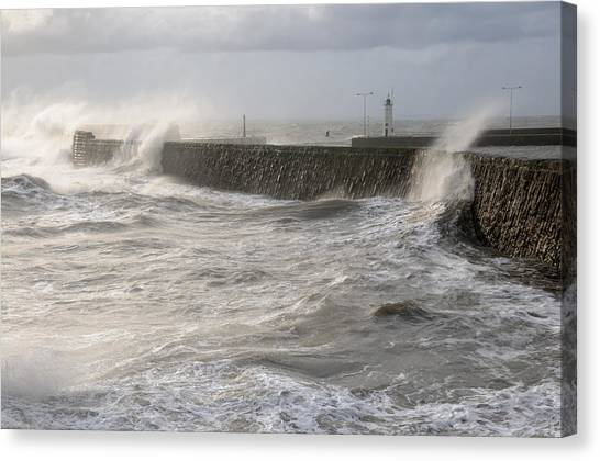 Scottish Sea Storm Canvas Print