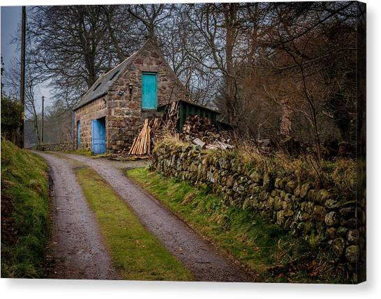 Scottish Stone Barn Canvas Print