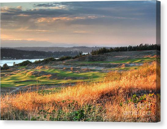 Scottish Style Links In September - Chambers Bay Golf Course Canvas Print
