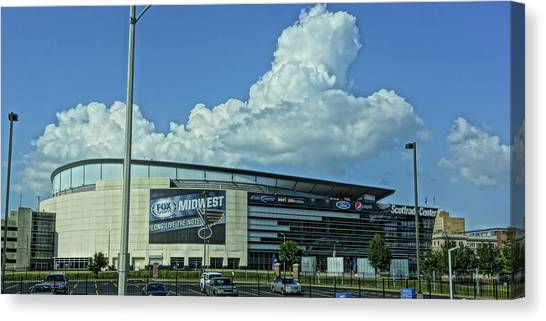 St. Louis Blues Canvas Print - Scottrade Center Home Of The St Louis Blues by Greg Kluempers