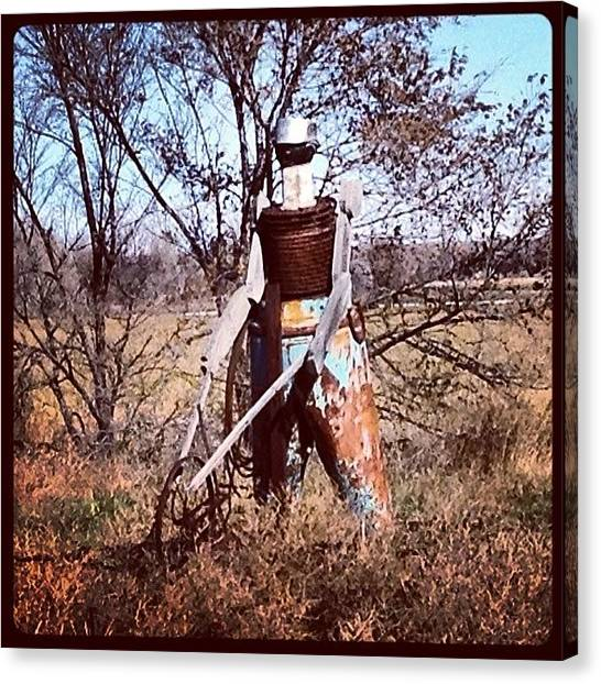 Metal Canvas Print - Scotts Bluff County #tin #man #farmer by M Hunter