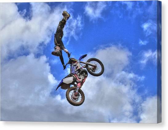 Motocross Canvas Print - Scotty by Reid Callaway