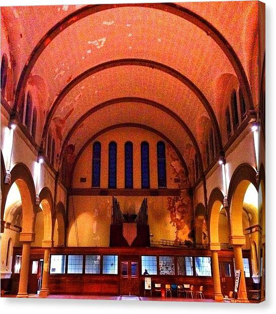 Harlem Canvas Print - #scoutingny #church #insta #iphoneonly by Malcolm Alston