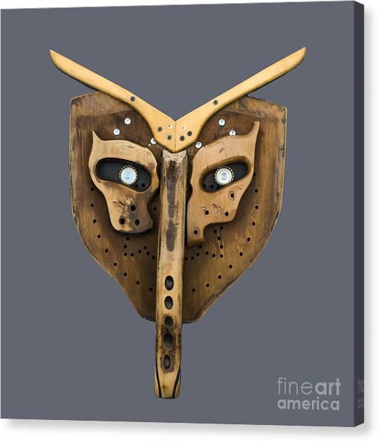 Scrap Wood Mask Canvas Print