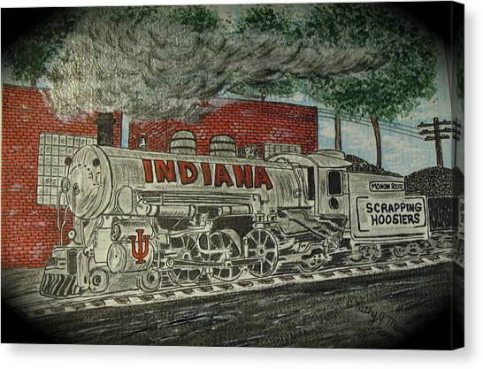 Scrapping Hoosiers Indiana Monon Train Canvas Print
