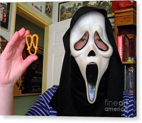 Scream And The Scream Pretzel Canvas Print