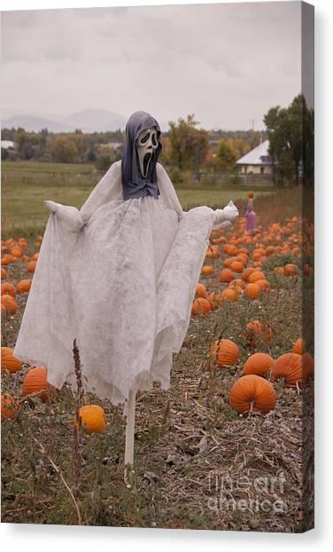 Pumpkin Patch Canvas Print - Scream by Juli Scalzi