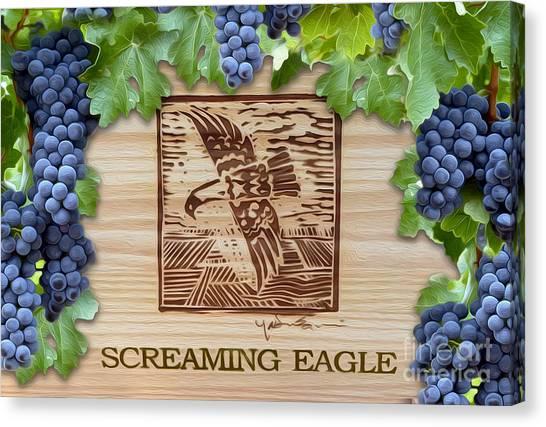Wine Barrels Canvas Print - Screaming Eagle by Jon Neidert