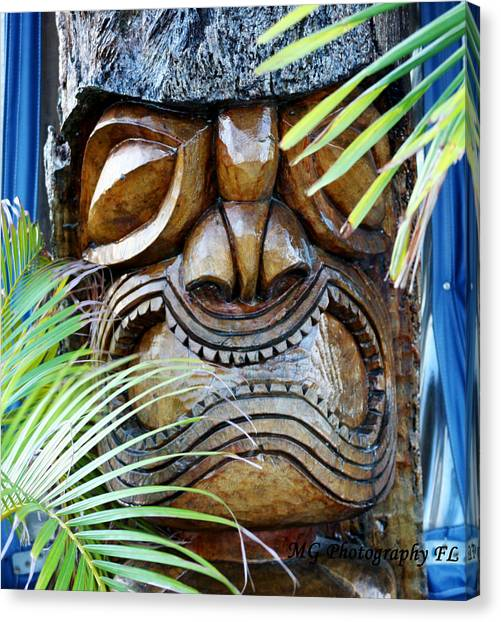 Screaming Tiki  Canvas Print