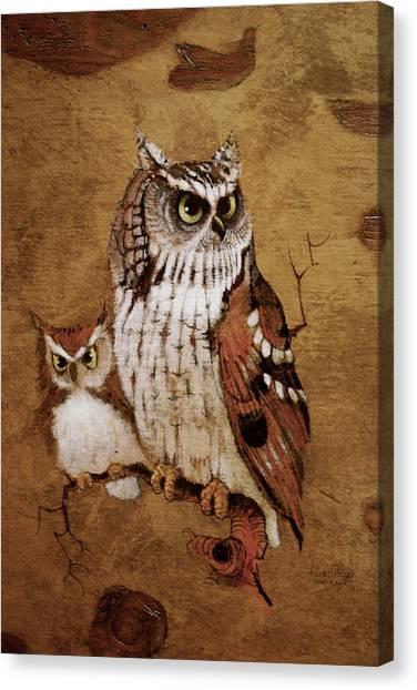 Screech Owls Canvas Print