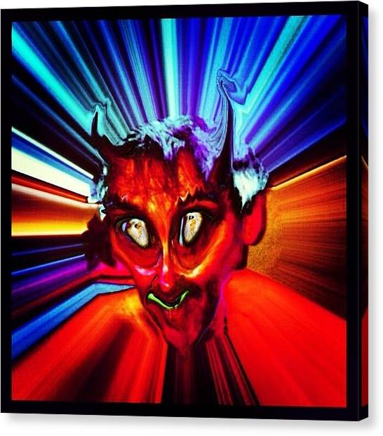 Horror Canvas Print - Screwtape - A Younger Novice Devil by Urbane Alien