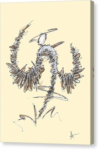 Scribble Angel 2 Canvas Print
