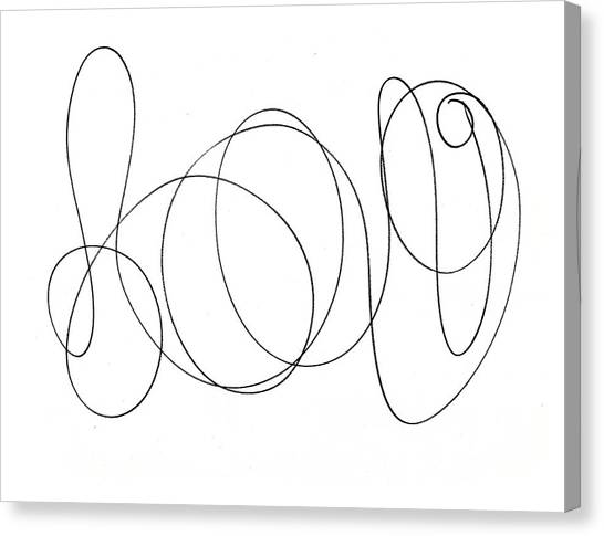 Scribble For Luv Canvas Print