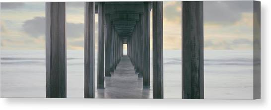 Scripps Pier Canvas Print - Scripps Pier Into The Pacific Ocean, La by Panoramic Images