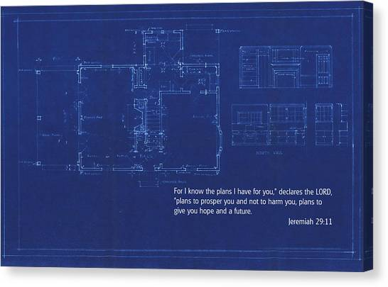Scripture And Picture Jeremiah 29 11 Canvas Print