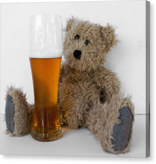 Care Bears Canvas Print - Scruffy Bear India Pale Ale by William Patrick