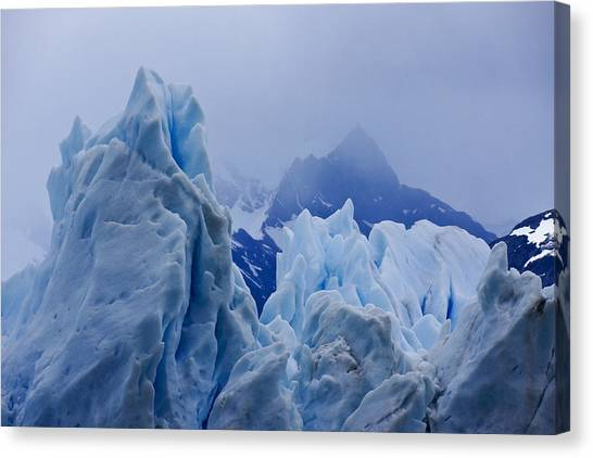 Perito Moreno Glacier Canvas Print - Sculpture In Blue by Michele Burgess