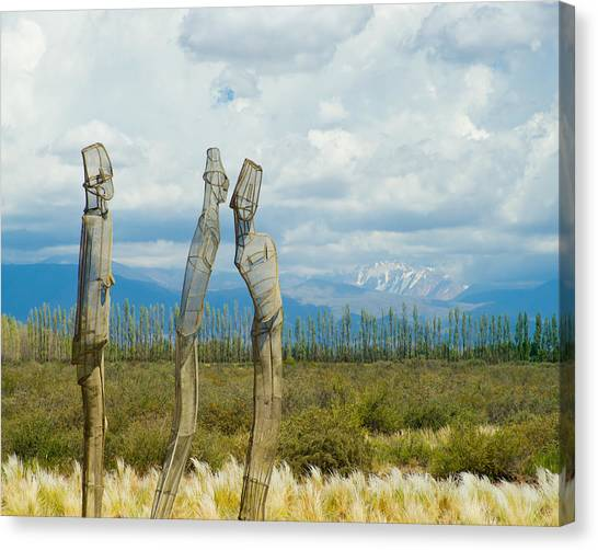 Sculpture In The Andes Canvas Print