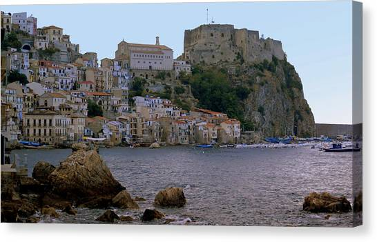 Scylla And The Shore Canvas Print
