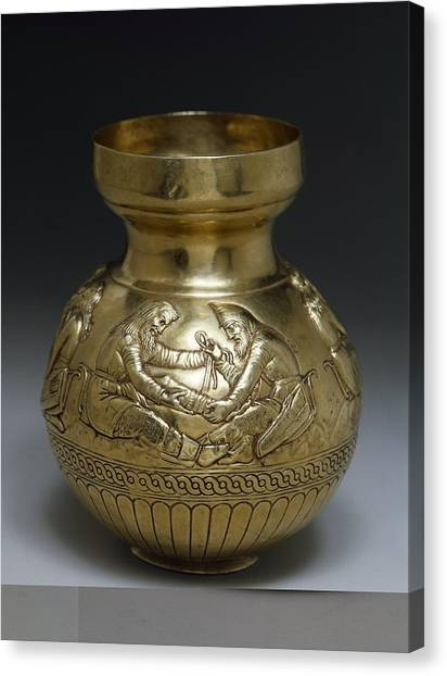 State Hermitage Canvas Print - Scythian Metal Vase by Science Photo Library