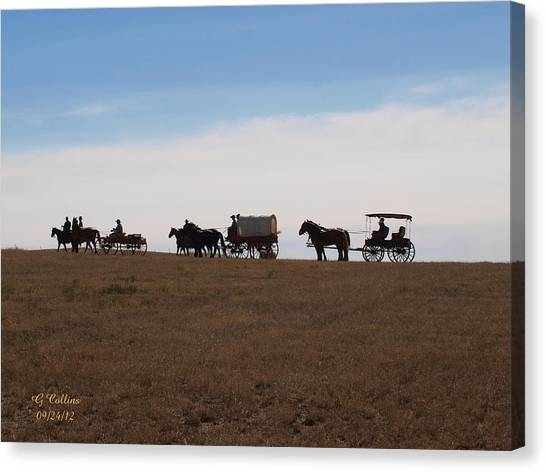 Sd Wagon Train Canvas Print