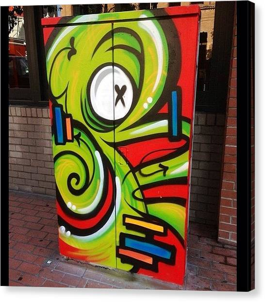 Octopus Canvas Print - #sdstreetart #alien #octopus #awesome by Sam Creveling