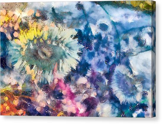 Canvas Print featuring the mixed media Sea Anemone Garden by Priya Ghose
