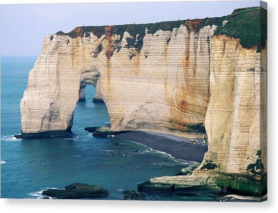 Etretat Canvas Print - Sea Arch by Pascal Goetgheluck/science Photo Library