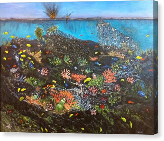 Sea Assault Canvas Print