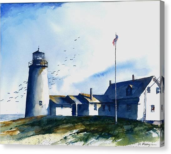 Sea Birds - Pemaquid Lighthouse Canvas Print