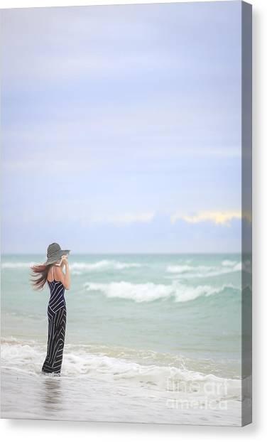 Breeze Canvas Print - Sea Breeze by Evelina Kremsdorf