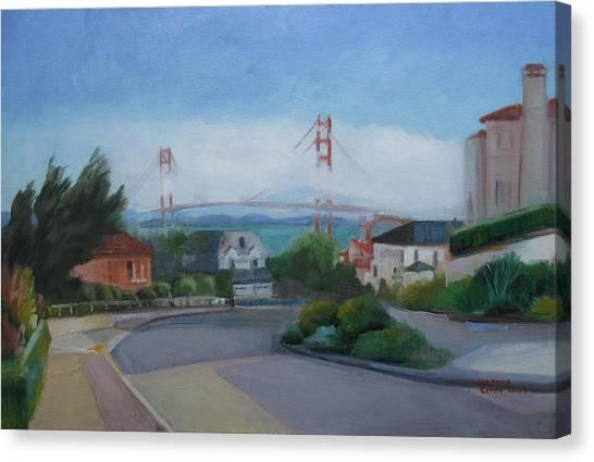 Sea Cliff Area San Francisco  Canvas Print