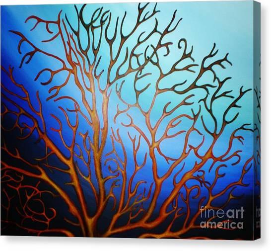 Sea Fan In Backlight Canvas Print