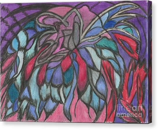 0044 Sea Flower Canvas Print by Essel Emve