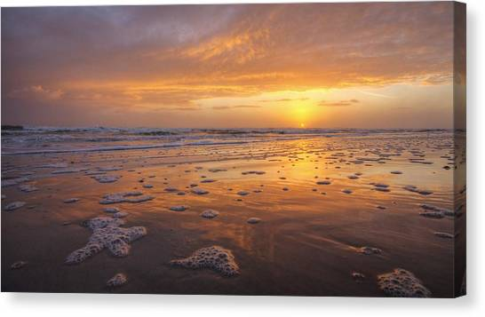 Sea Foam Sunrise Canvas Print by Danny Mongosa