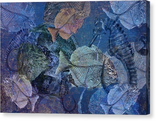 Sea Fossil World Canvas Print