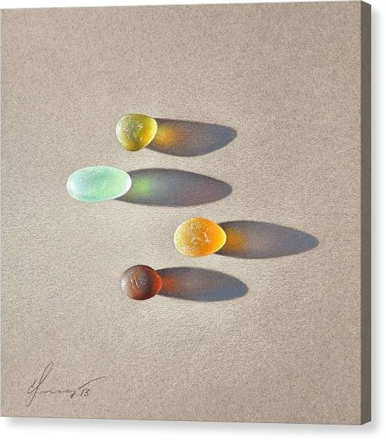 Sea Glass - The Race Canvas Print