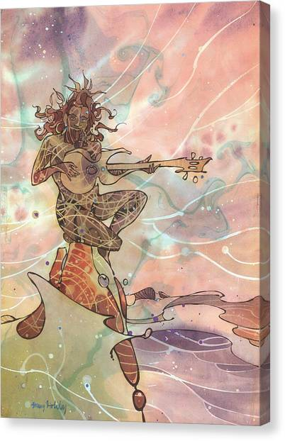 Sea God Guitarist Canvas Print
