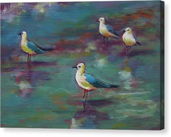 Sea Gulls Beach Bums Canvas Print