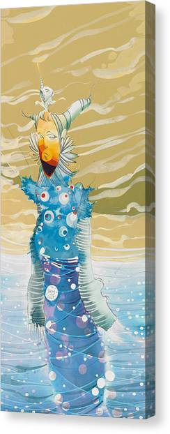 Sea Man Canvas Print